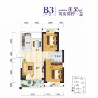 2-3-7栋住宅B3户型