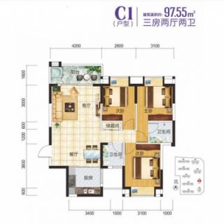 2-3-7栋住宅C1户型