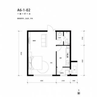 A6号楼1-02户型