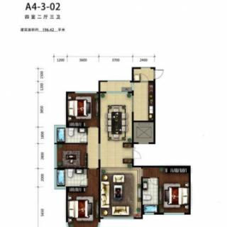 A4号楼3-02户型