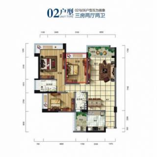 酒店式公寓多层02户型