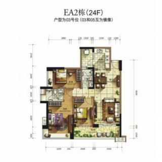 蔚蓝高尔夫组团EA2洋房24楼03户型