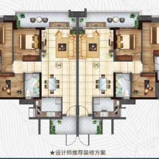 1-30栋98平三房户型