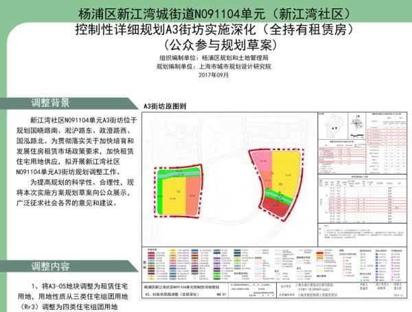 上海加快租赁住宅用地供应 拟将新江湾一地块调整为租赁住宅用地