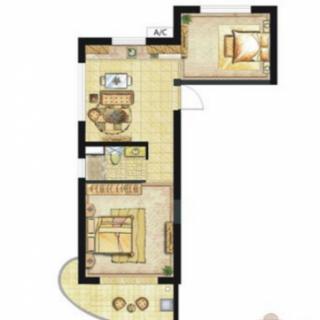听澜公寓E2-1户型