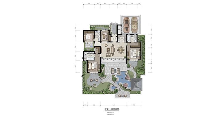 青竹园J2户型一层平面图