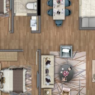洋房120平米