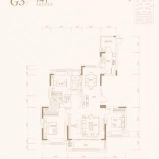 3室2厅2卫-141平米
