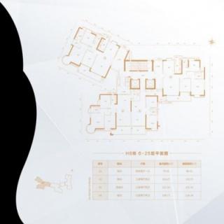 H6栋6-25层平面图