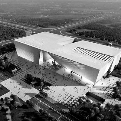 郑州美术馆新馆及郑州档案史志馆主体结构完工