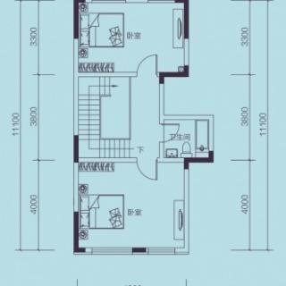 联排别墅F2户型