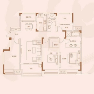 洋房141平米户型