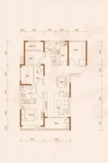 高层123平米户型