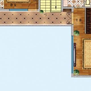 A户型两层 2+1房两厅四卫