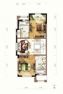 二期联排别墅端户户型2层