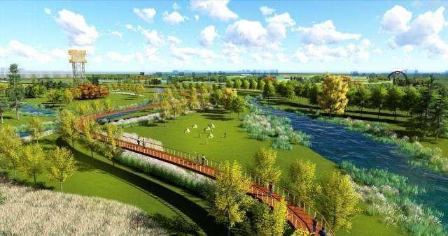 生态公园,胜芳湿地公园,森林公园,滨河公园等生态工程,近五年累计造林