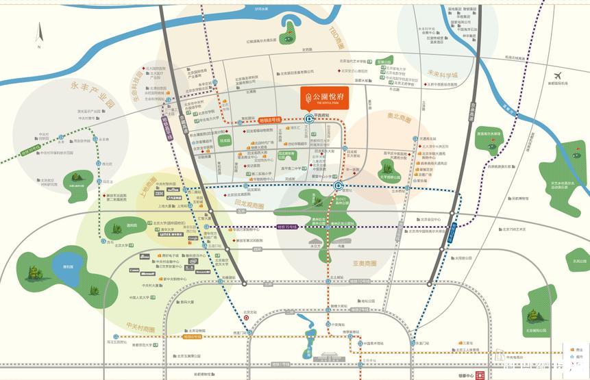 京投發展·公園悅府規劃圖2