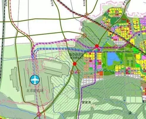 北京新机场临空经济区规划图来了!固安成为临新空港的