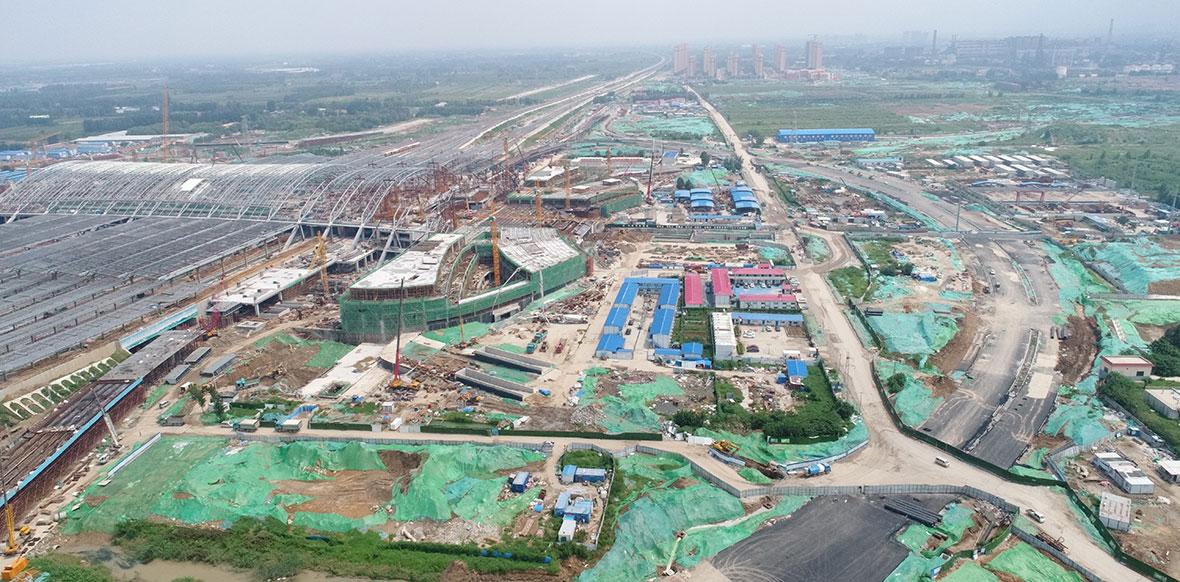 济南新东站最新现场施工图
