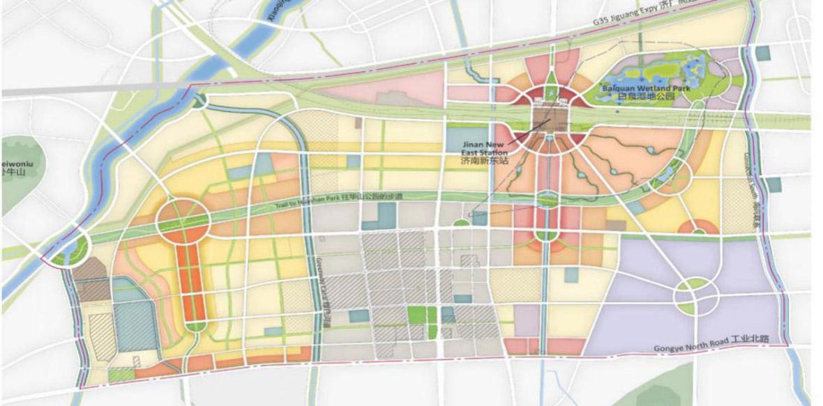 济南新东站生态规划图
