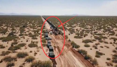 建设中的美墨边境墙:已耗资35亿美元 无人机视角