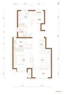 89㎡三居洋房户型图