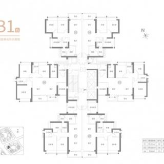 住宅B1栋平面图