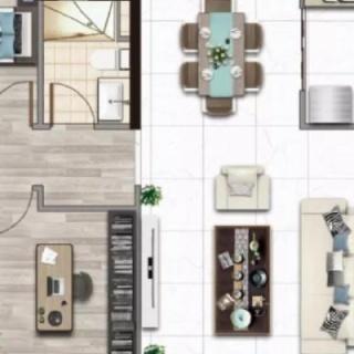 建面140平四房户型