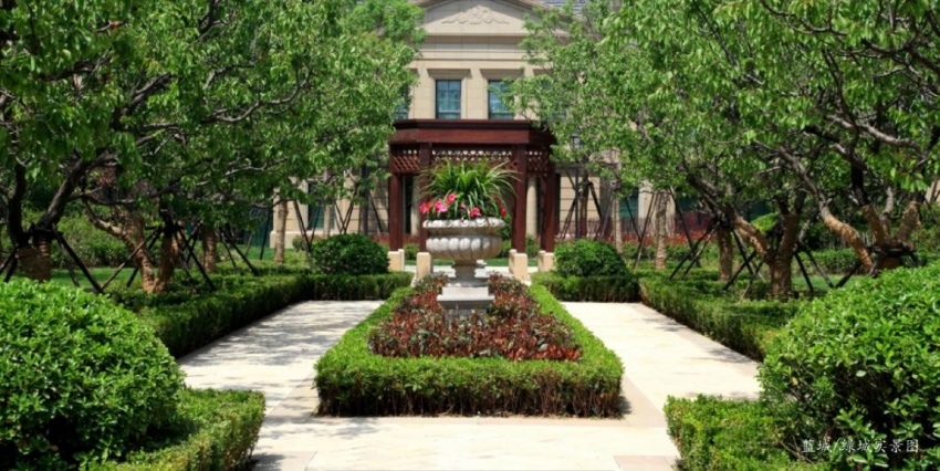 宫廷仪仗树阵别墅设计图及造价图片