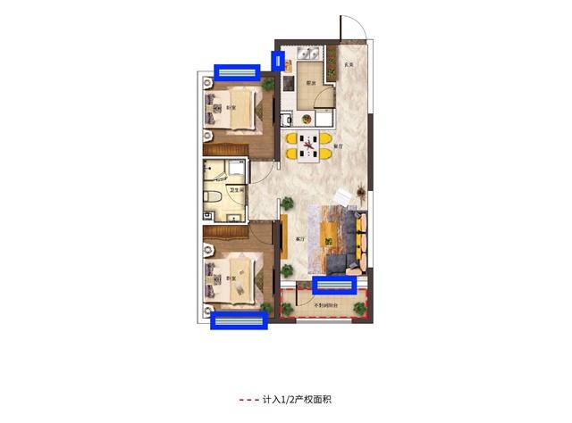 新京学府高层g户型,不但价格实惠,均价4400元/平米,而且在采光设计上