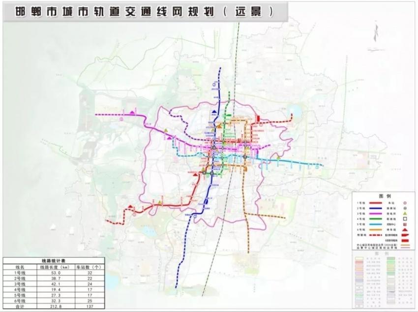 邯郸市城市轨道交通线路图