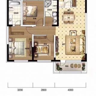 三室二厅二卫115㎡