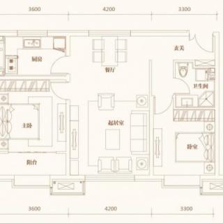 洋房标准层A2户型