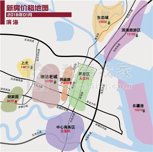 新年终极房价地图 天津涨的多还是降的多