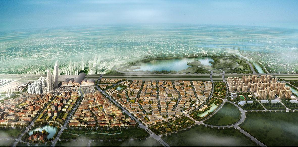 济南新东站俯瞰图