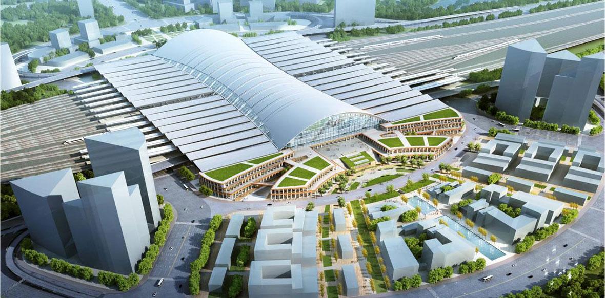 济南新东站规划效果图