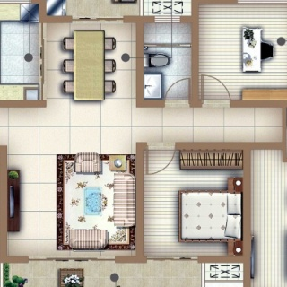 户型E2四房两厅两卫