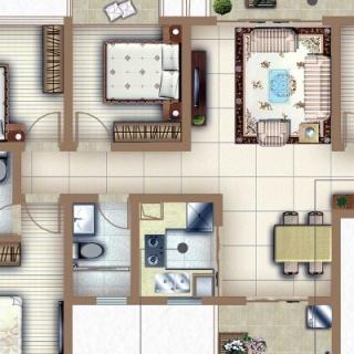 户型C5四房两厅两卫
