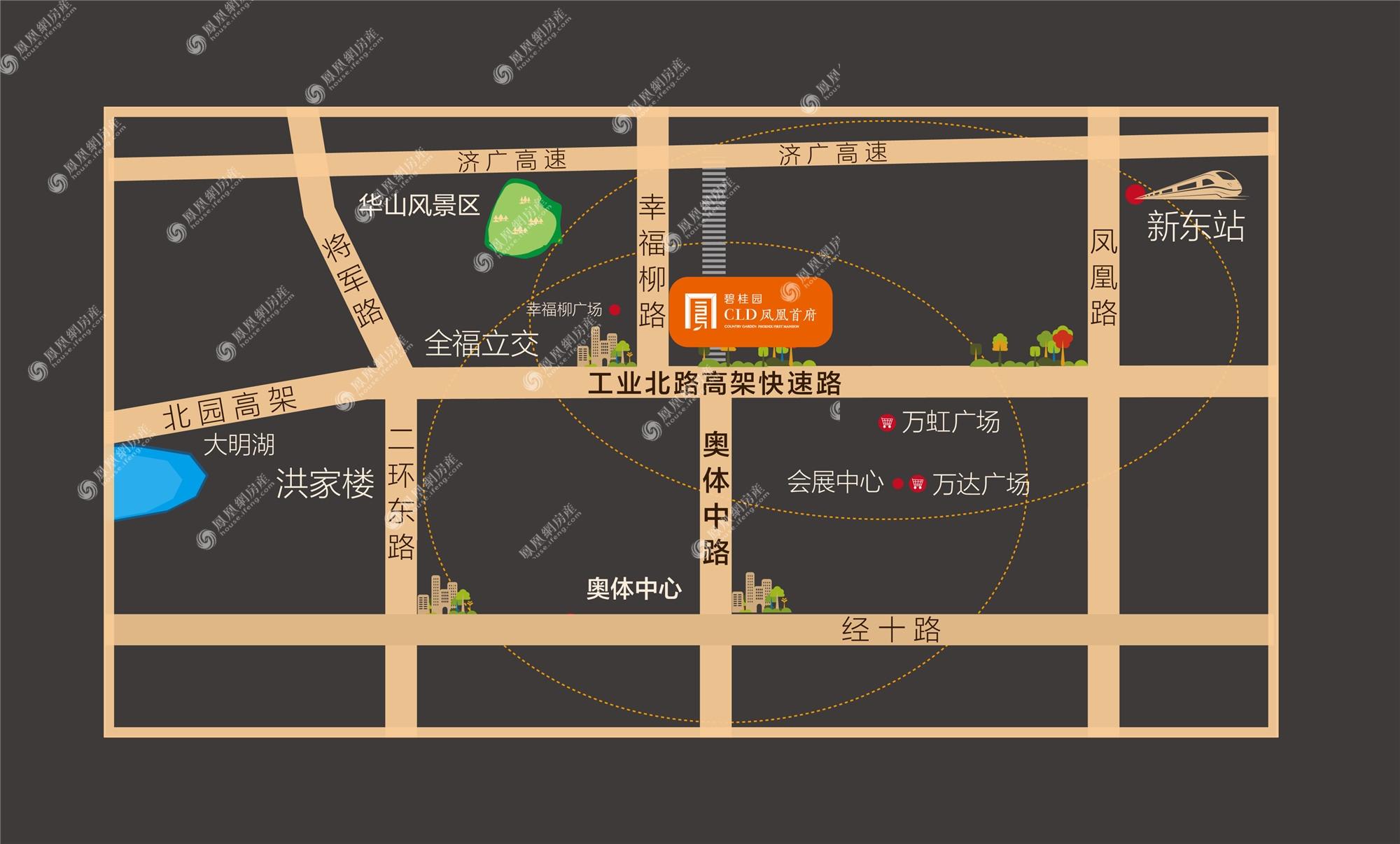 碧桂园 ·CLD凤凰首府规划图
