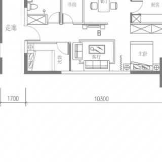 B户型(4号楼平层)